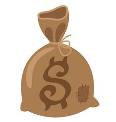 bag with money logo vintage bank wild west game vector image vector image