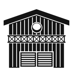 Barn for animals icon simple style vector