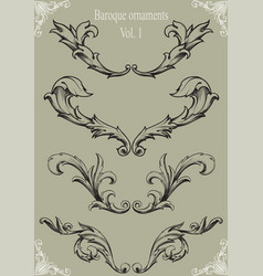 Baroque ornaments vol 1 vector image vector image