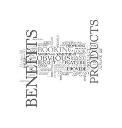 benefits money text word cloud concept vector image vector image