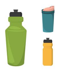 Blank plastic bottle for water vector