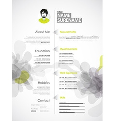 Creative color rich cv resume template with grey vector