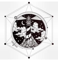 Decorative lighthouse vector