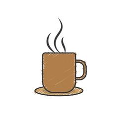 delicious coffee cup to drink vector image