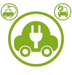Electric car simple icon vector image vector image