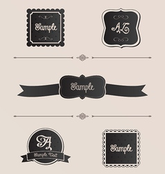Fancy frames vector