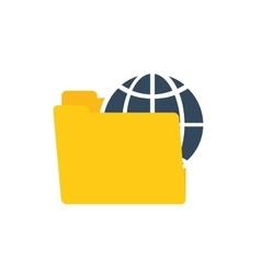 Folder data global technology communication vector
