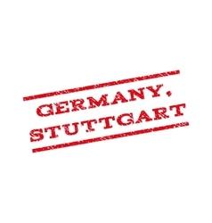 Germany stuttgart watermark stamp vector