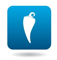 Hot pepper icon in flat style vector