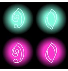Neon digits vector image vector image