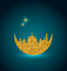 ramadan celebration background holy month mosque vector image vector image
