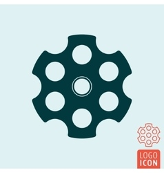 Revolver cylinder icon vector image