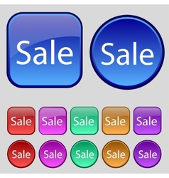 Sale tag Icon for special offer Set of colored vector image