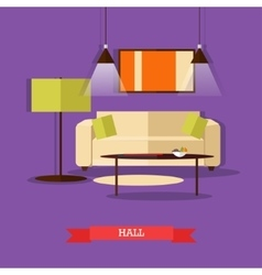 Set of posters banners with home interior vector