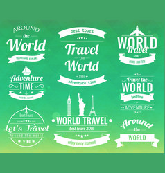 Set of vintage travel badges and labels holiday vector