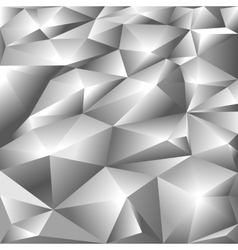 Silver polygonal abstract background vector image vector image