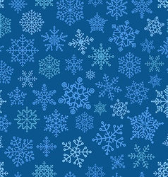 Snowflake seamless pattern Design template vector image vector image