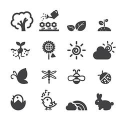 spring icon set vector image