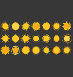 sun collection icon flat design vector image vector image