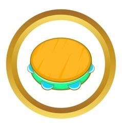 Tambourine icon vector