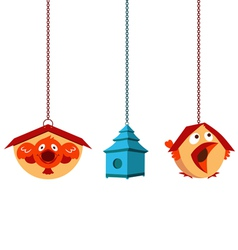Unique Bird Houses vector image vector image
