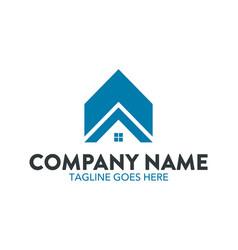 unique house logo vector image vector image