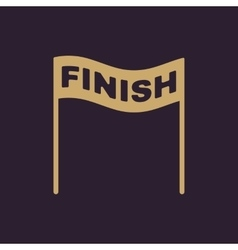 The finish icon finish symbol flat vector