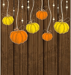 Orange and yellow pumpkins vector