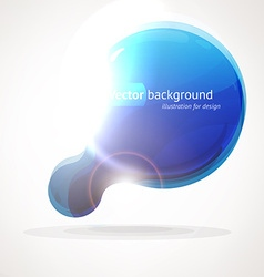 Blue blob background vector