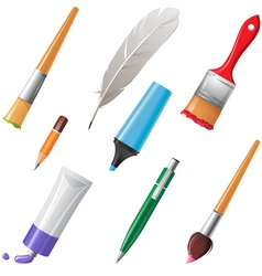writing tools set vector image