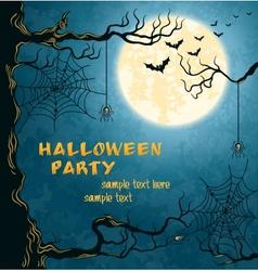 Horror card for halloween vector