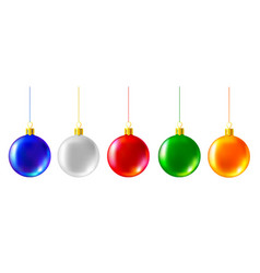 Colored christmas balls vector