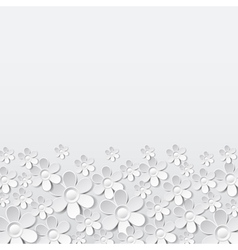 White valentine background with many flowers vector