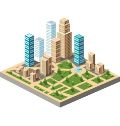 city center vector image