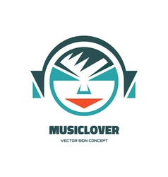 Music lover - logo concept vector