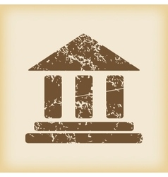 Grungy classical building icon vector