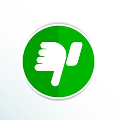 Hand with thumb down icon symbol vector