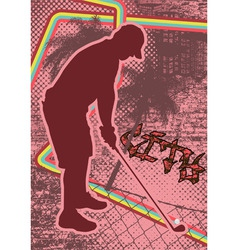 Vintage urban grunge golf vector