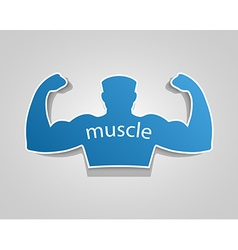 Gym label design and street workout sticker vector