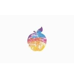 Apple rainbow apple colorful logo company logo vector