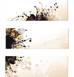 yellow grunge banner set vector image