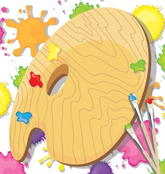Painting art party invitation vector