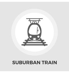 Suburban electric train flat icon vector