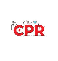 Cpr word design vector