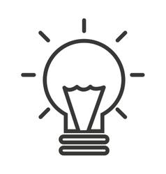 Bulb light isolated icon design vector