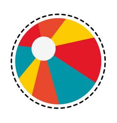 Beach ball icon image vector