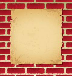 brickwall parchment vector image vector image
