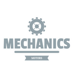 business machinery logo simple gray style vector image