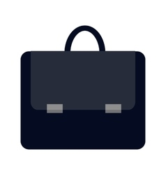 Dark blue briefcase icon vector