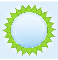 eco label vector image vector image